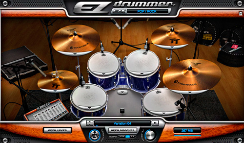 Interface EZDrummer