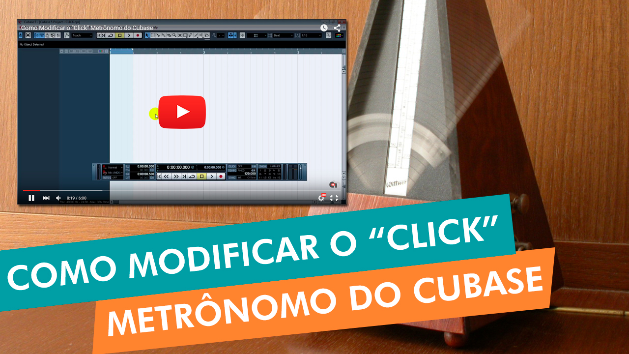 "Como Modificar o ""Click"" Metrônomo do Cubase"